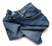 Rumpled jeans — Stock Photo