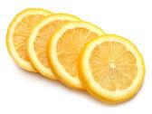 Lemon sliced ??rings — Stock Photo