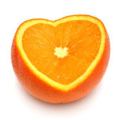 Sliced ??half orange  — Stock Photo