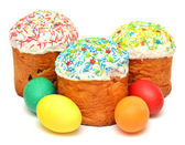 Easter cake with decorated eggs  — Stok fotoğraf