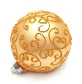 Bola de navidad amarilla — Foto de Stock