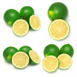 Collection of sliced limes — Stock Photo #43960549