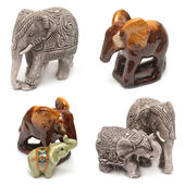 Collection of figurines elephant  — Stok fotoğraf