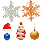 Collection of christmas toys  — Stock Photo