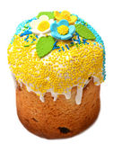 Beautifully decorated easter cake — Stock Photo
