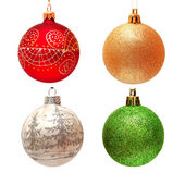 Collection of christmas balls  — Stock Photo