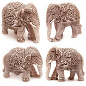 Collection of elephant figurines  — Stock Photo