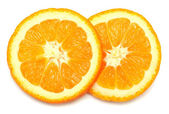 Two oranges sliced rings — Stock Photo