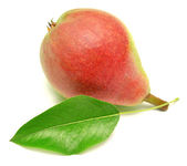 Pear with leaf — Stock Photo