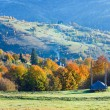 Autumn mountain village (Carpathian, Ukraine). — Stock Photo