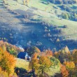 Stock Photo: Autumn mountain village (Carpathian, Ukraine).