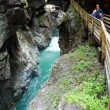 Family and Liechtensteinklamm gorge (Austria) — Stock Photo #13070783