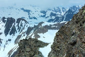 Mountain view from the Karlesjoch cable ski lift upper station — ストック写真
