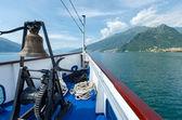 Lake Como (Italy) view from ship — Stock Photo