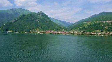 Vista do Lago de Como (Itália) do navio — Vídeo stock