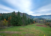 Autumn mountain village — Stock Photo