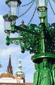 уличный фонарь в праге, чешская республика — Стоковое фото