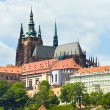Stock Photo: Prague castle and St Vitus Cathedral (Czech Republic)