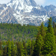 Stock Photo: Strbske Pleso (Slovakia) spring view.