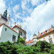 Castle Pruhonice or Pruhonicky zamek summer perspective view (Pr - Stock Photo