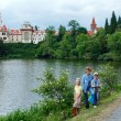 Castle Pruhonice or Pruhonicky zamek summer view (Prague, Czech) - Stock Photo