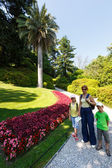 Family in beautiful summer park. — Stock Photo
