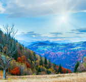 Autumn morning mountain — Stock Photo