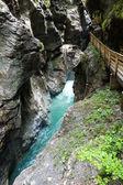 Liechtensteinklamm gorge (Austria) — Stock Photo