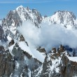Mont Blanc mountain massif (view from Aiguille du Midi Mount,  F — Foto de Stock