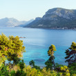 Summer  sea coastline view (Croatia) — 图库照片