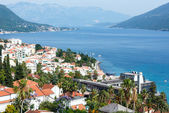 Bay of Kotor and Herceg Novi town (Montenegro) — Stock Photo
