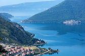 Kotor town on coast (Montenegro, Bay of Kotor) — Stock fotografie