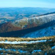 Stock Photo: Autumn mountain panoramwith first winter snow