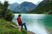 Plansee summer landscape (Austria). — Stockfoto
