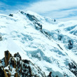 Mont Blanc mountain massif (view from Aiguille du Midi Mount,  F - Stock Photo