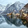 Hallstatt winter view (Austria) — 图库照片