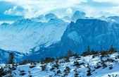 Beautiful winter mountain landscape. — Stock Photo
