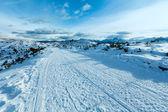 Paisaje de montaña de invierno hermosa. — Foto de Stock