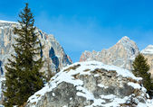 ロッキー山脈の美しい冬の景色. — ストック写真