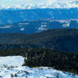Beautiful winter mountain panorama (Rittner or Ritten Horn, Ital — Stock Photo