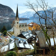 Hallstatt winter view (Austria) — Stockfoto