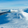 Morning winter mountain panorama (Carpathian, Ukraine). — Stock Photo #20828235