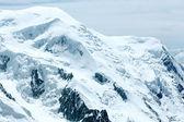 Montblanc mountain (blick von der aiguille du midi-mount, — Stockfoto