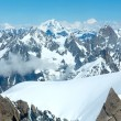 Mont Blanc mountain massif (view from Aiguille du Midi Mount, Fr - Stock Photo