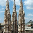 The roof of Milan Cathedra (Italy) — Stock Photo