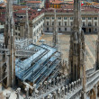 The roof of Milan Cathedra (Italy) - Zdjęcie stockowe