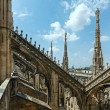 The roof of Milan Cathedra (Italy) - Stock Photo