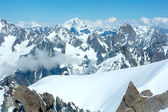 Mont Blanc mountain massif (view from Aiguille du Midi Mount, Fr — Stock fotografie