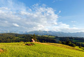 Summer mountain evening country landscape — Stock Photo