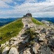 Summer Tatra Mountain (Poland) and family on path — Stock Photo